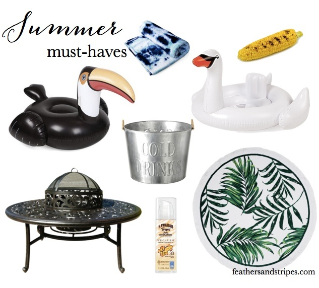 Summer prep for perfect days feathers and stripes for Pool design must haves