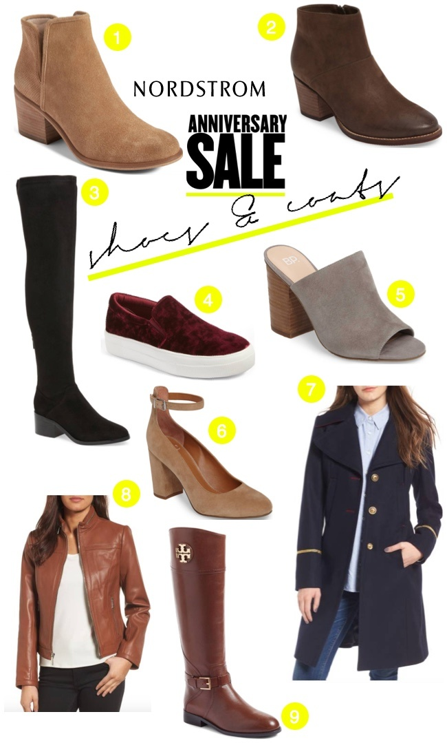 Nordstrom Anniversary Sale 2017 shoes and coats