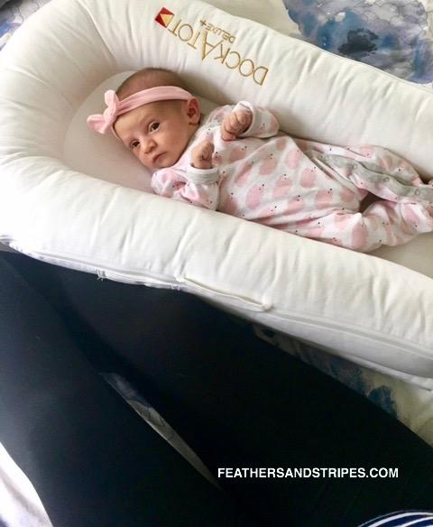 Eleanor Rose: One Month Old! Baby Update from feathersandstripes.com