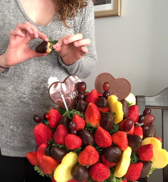 Edible Arrangements strawberries and chocolate