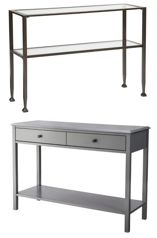 bedside table, console table