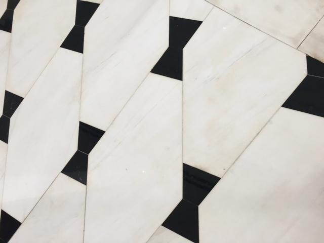 bow tie black and white floor
