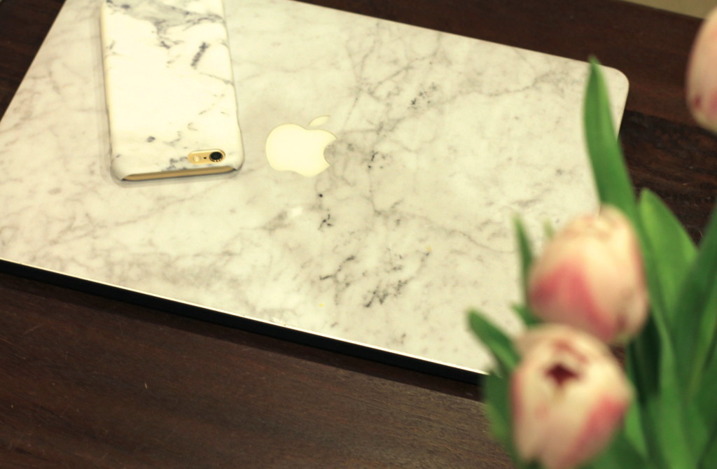 marble laptop cover and iphone case
