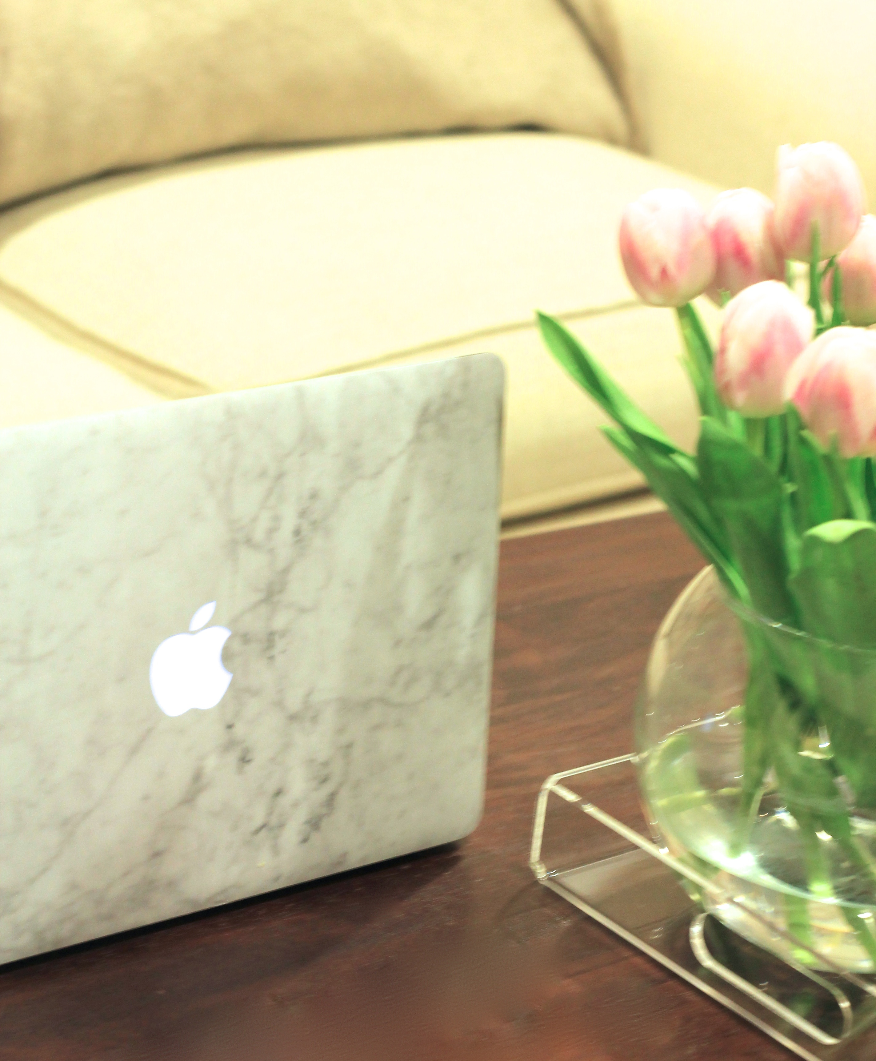 marble laptop cover