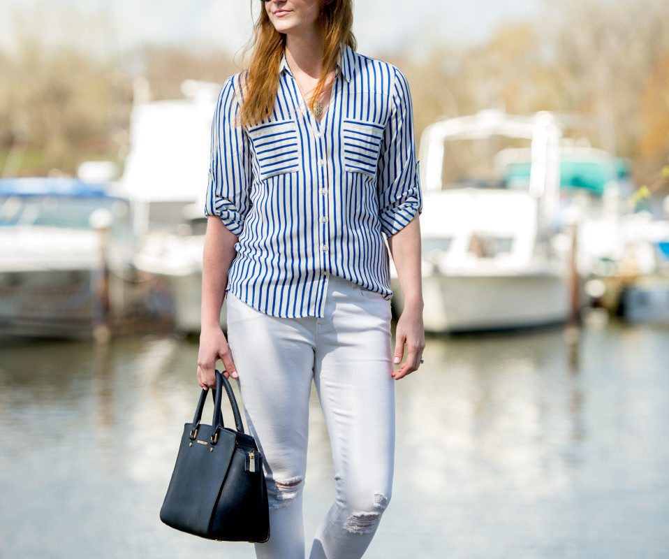 Nautical Blue and White Outfit