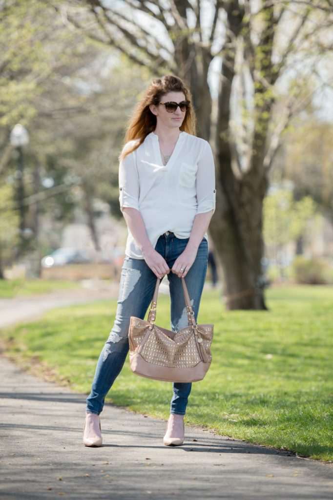 white tunic shirt for spring under $30