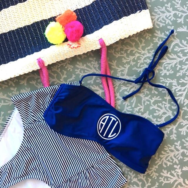 monogrammed swimsuit