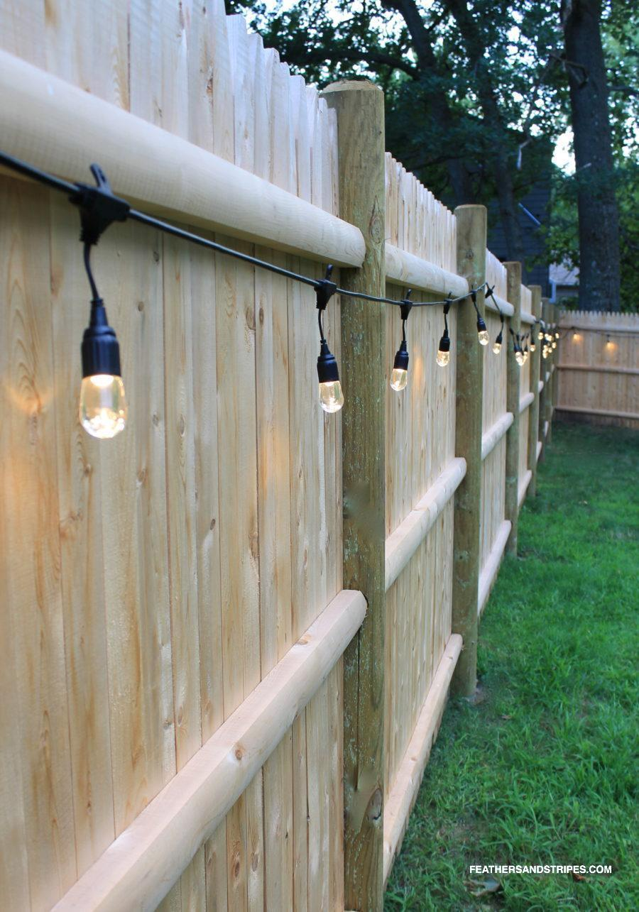 backyard cafe lights featured by top Boston lifestyle blog, Feathers and Stripes