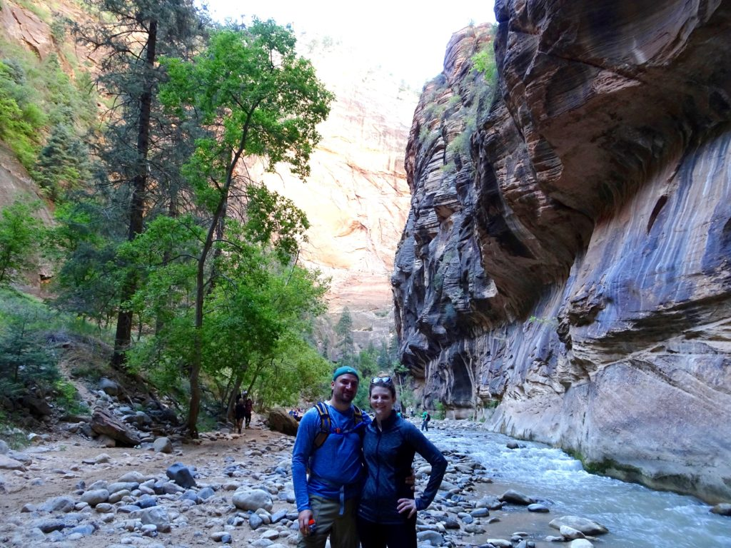 hiking The Narrows at Zion National Park #findyourpark #nps100