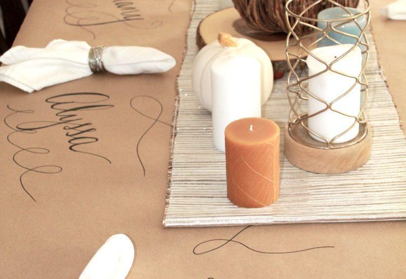 Easy Thanksgiving Table Idea