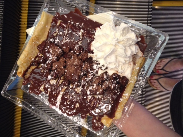 crepes in Las Vegas featured by top Boston travel blog, Feathers and Stripes