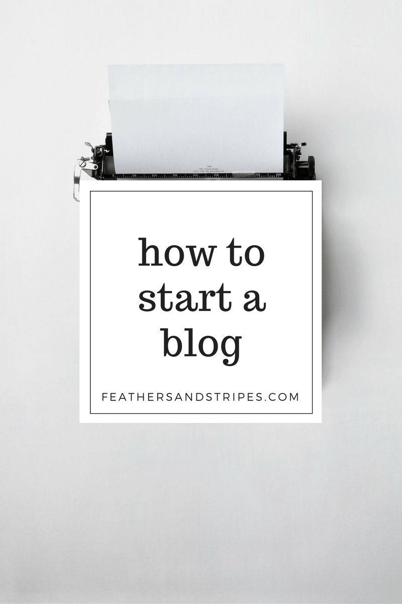 how to start a blog! 5 easy steps