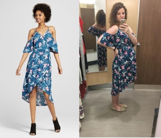 Teal off shoulder dress from Target