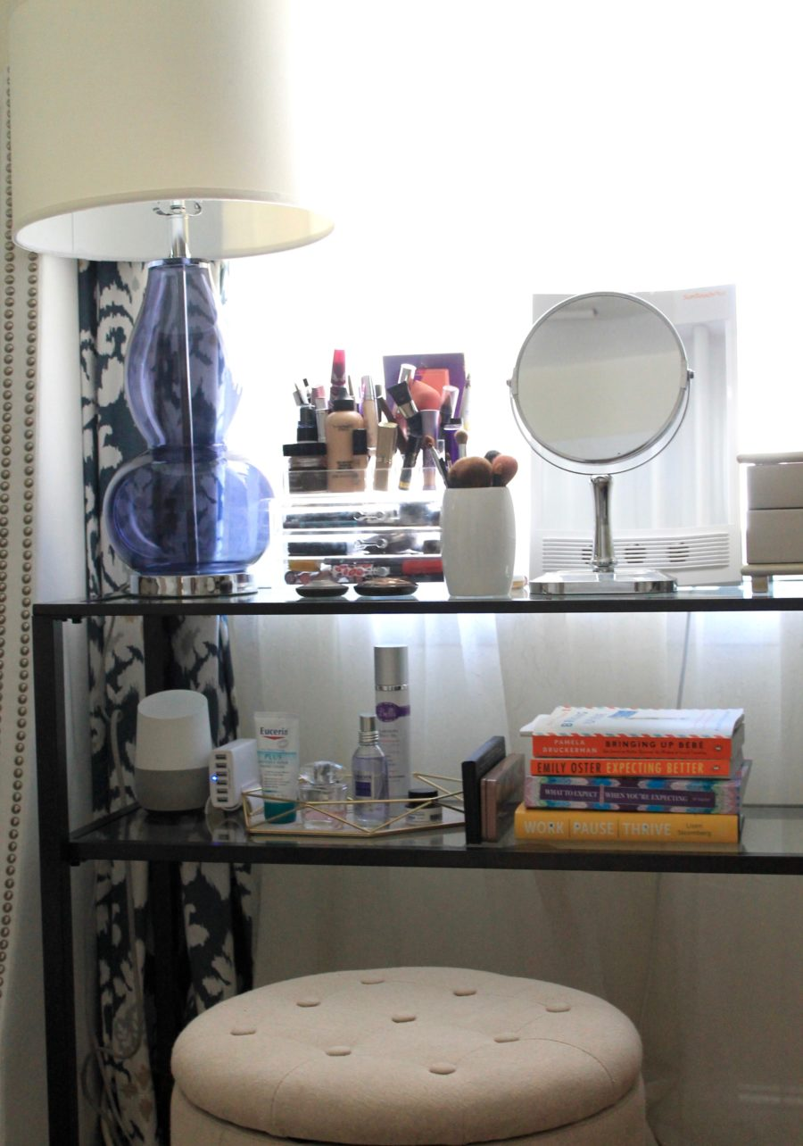 bedside vanity table: how to create a vanity from a console table