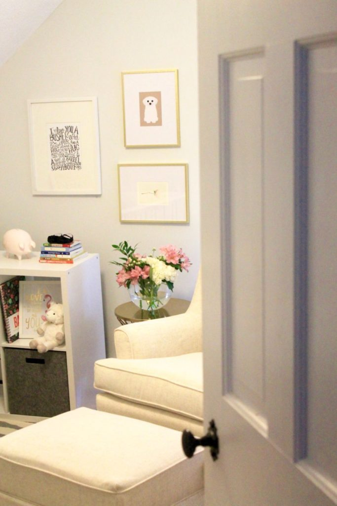 Neutral baby girl nursery   Baby Registry Must Haves featured by popular Boston life and style blogger, Feathers and Stripes