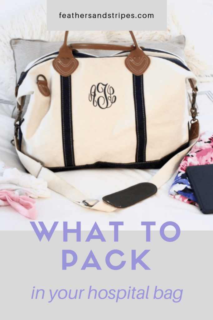 what to pack in your hospital bag with your first baby