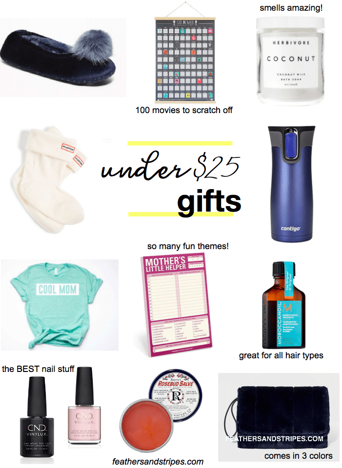 stocking stuffers and gifts under $25, including gifts for your coworkers and Secret Santa gifts!