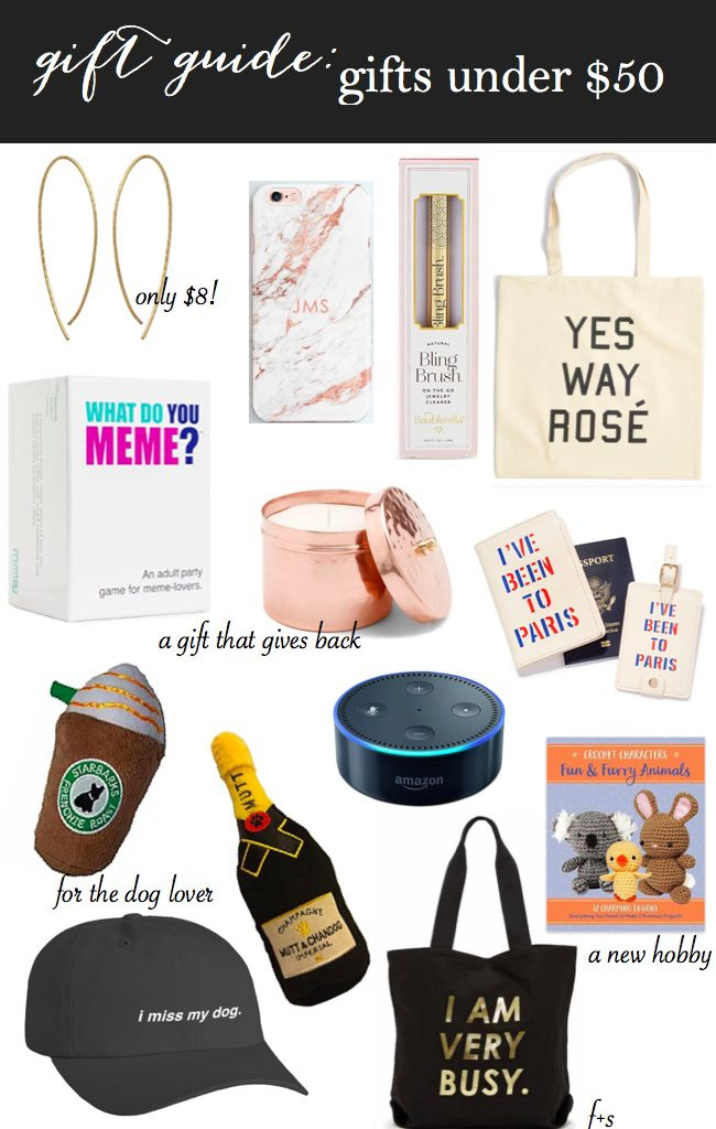 Gift Guide: Gifts Under $50 (+ a Giveaway!)
