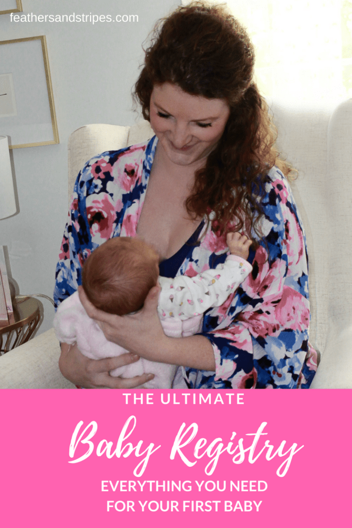 Best baby registry for first-time moms, everything you need for your first baby | Baby Registry Must Haves featured by popular Boston life and style blogger, Feathers and Stripes