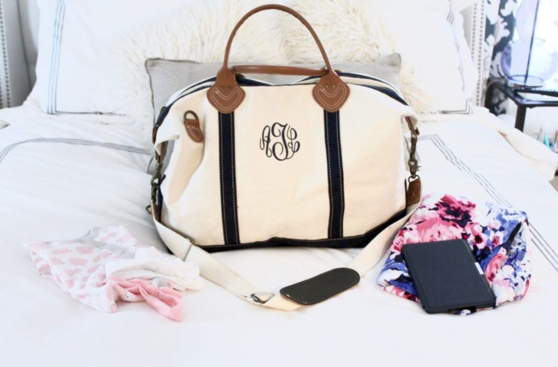 monogrammed travel bag
