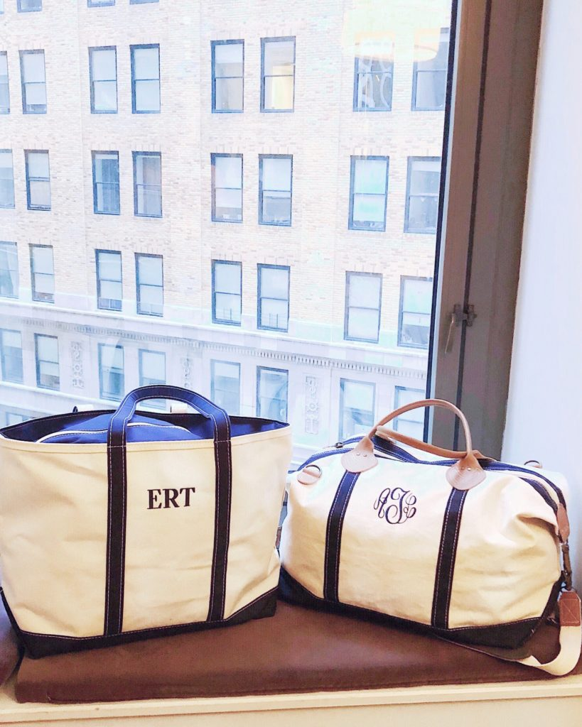 mom and me monogrammed travel bags