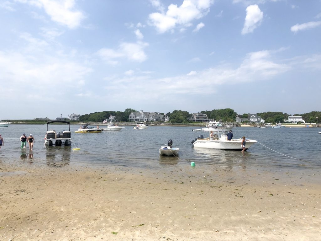 July 4th Cape Cod beach for boats