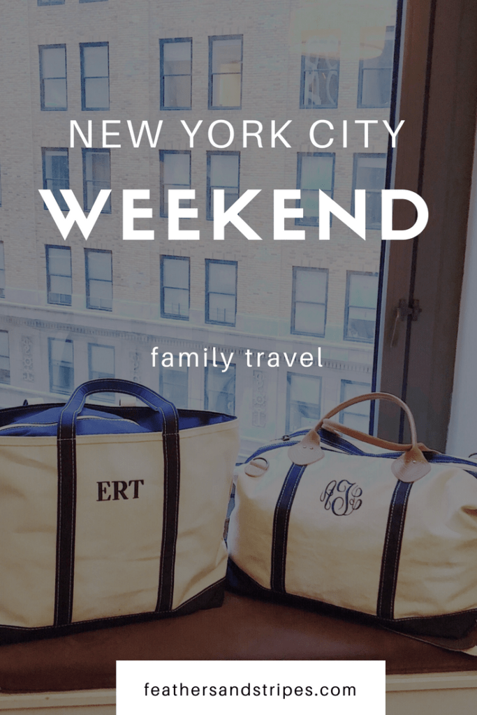 NYC weekend (family travel)