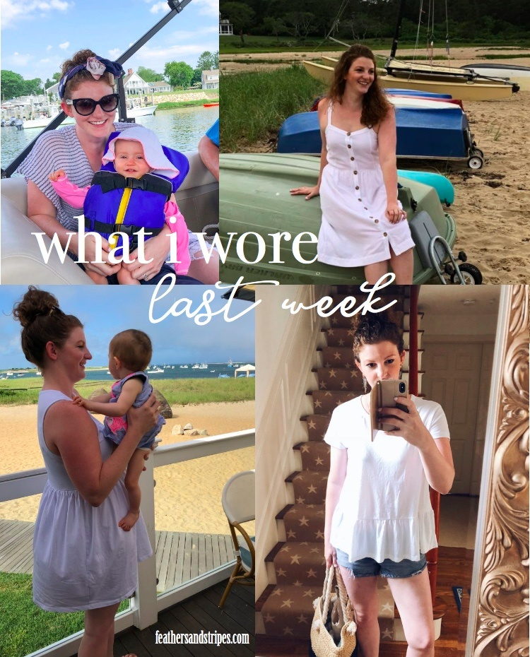 what I wore last week - real outfits for mom and baby