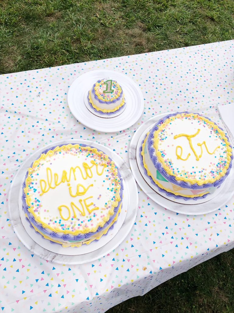pink and purple and yellow first birthday party for baby girl | Motherhood | Eleanor's Picnic Themed First Birthday Party featured by popular Boston lifestyle blogger Feathers and Stripes