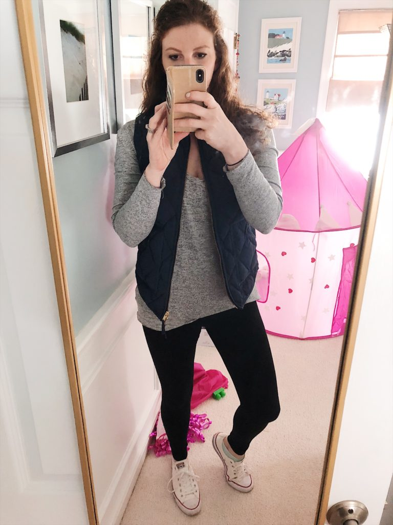 my mom uniform and the best leggings for everyday | Amazon Baby Shopping Haul featured by top Boston mom blogger Feathers and Stripes