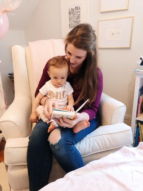 gift ideas for one year old baby girl, first birthday featured by top Boston mom blogger, Feathers and Stripes