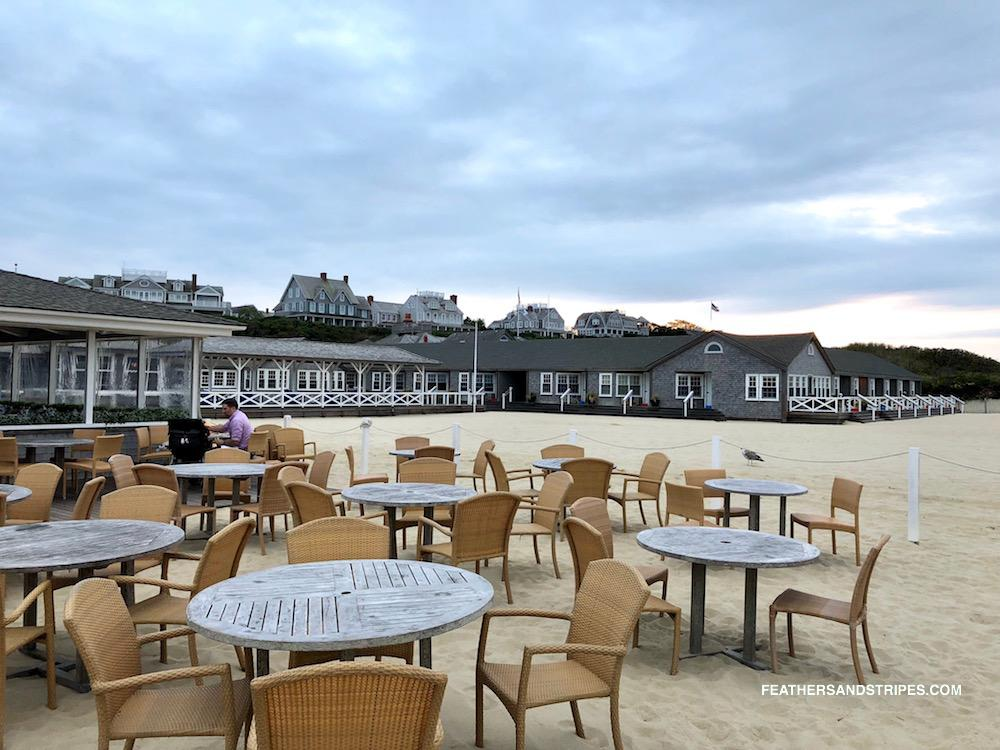 Galley Beach Nantucket restaurant in September - how to get an easy reservation at Galley Beach for the most perfect sunset | #Nantucket | #travelblogger | feathersandstripes.com | Nantucket in the Fall: the Ultimate Travel Guide featured by top Boston travel blog Feathers and Stripes