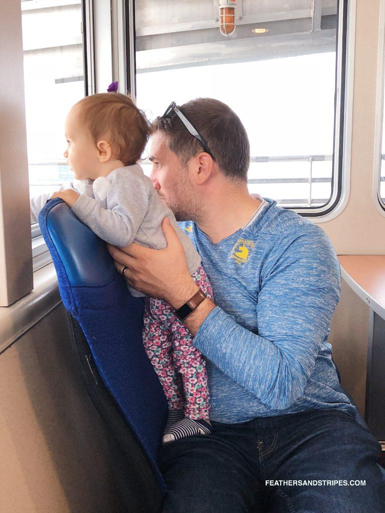 taking the ferry to Nantucket with a baby | #Nantucket | #travelblogger | feathersandstripes.com | Nantucket in the Fall: the Ultimate Travel Guide featured by top Boston travel blog Feathers and Stripes