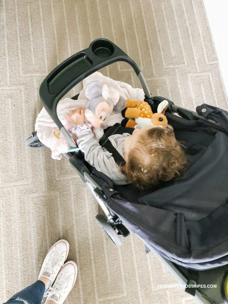 tips on flying with a toddler - what to pack, tips and tricks, and the big mistake we made - feathersandstripes.com
