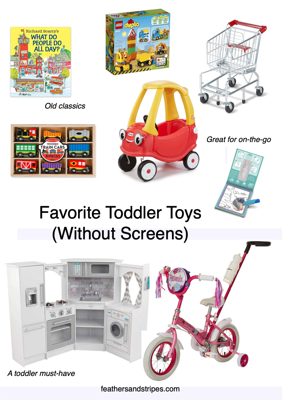 Favorite non-electronic toddler toys (the best toys - without screens!)