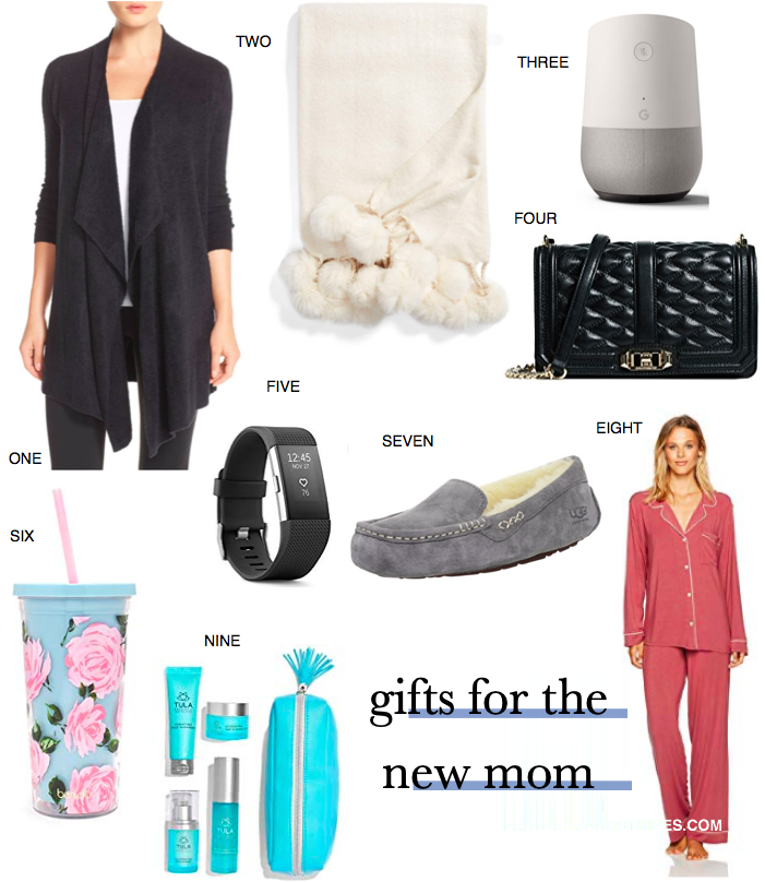 gift guide: gifts for the new mom