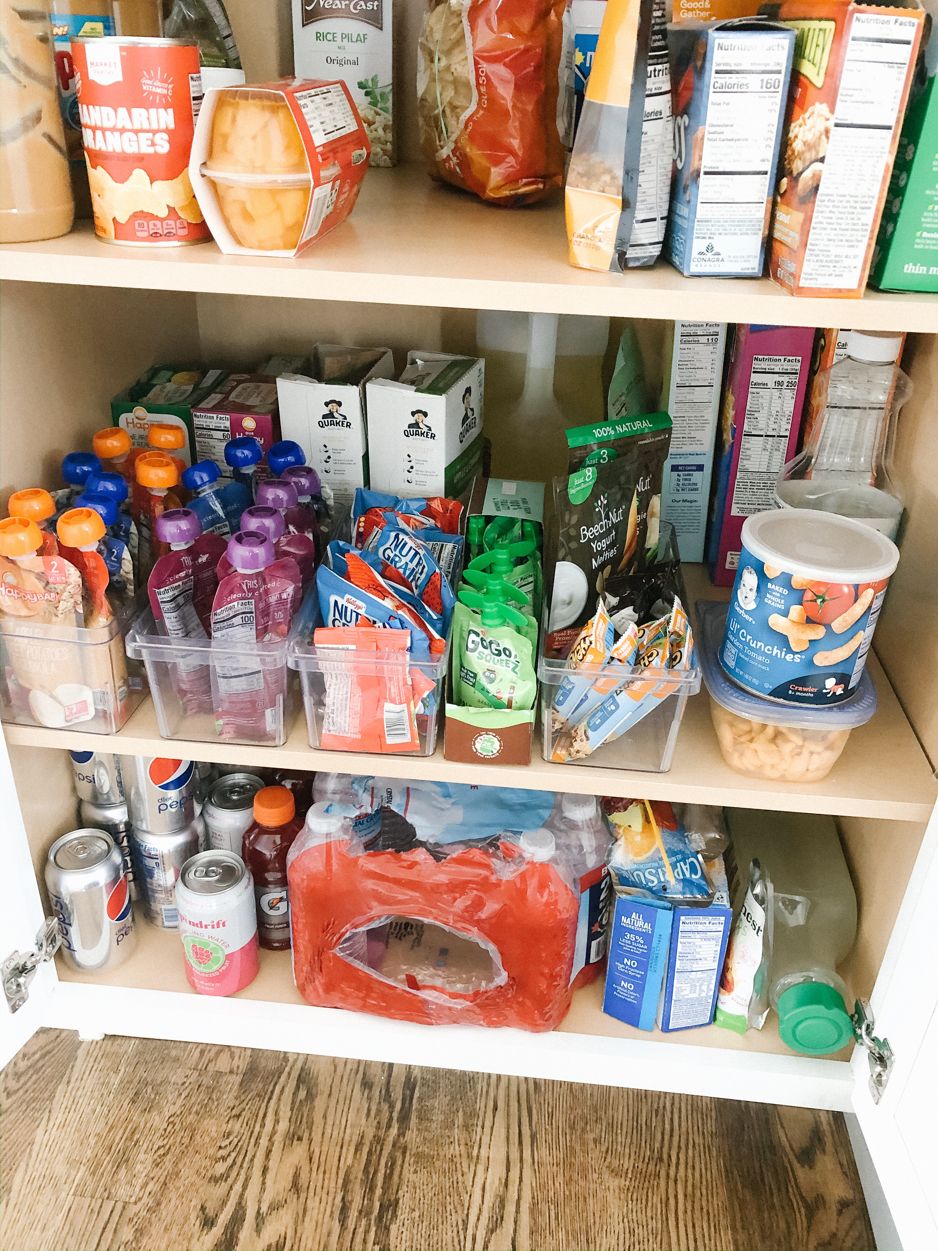 pantry organization toddler snacks