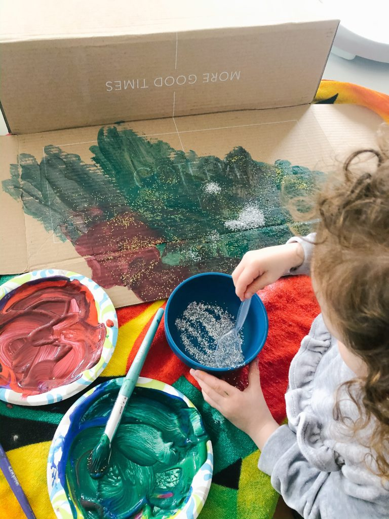 painting with your toddler - and other activities you can do at home!