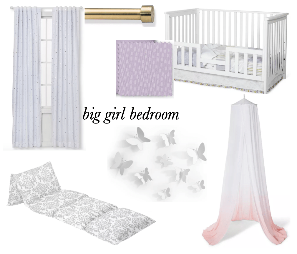 a big girl bedroom that is purple, gray, and white