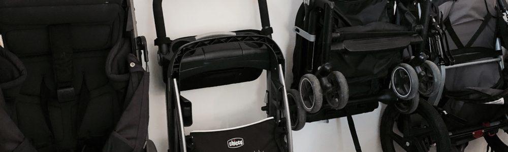 Garage Stroller Organization
