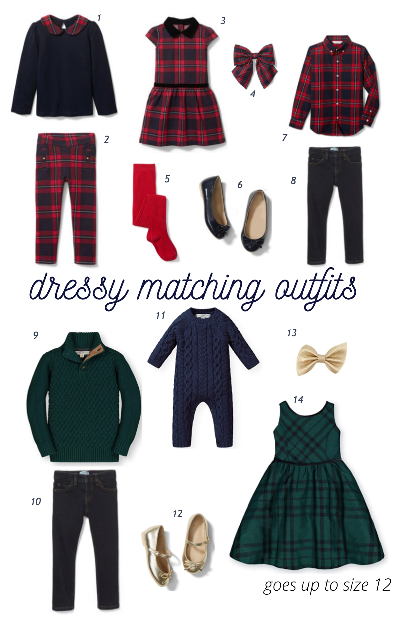 dressy matching sibling outfits for Christmas
