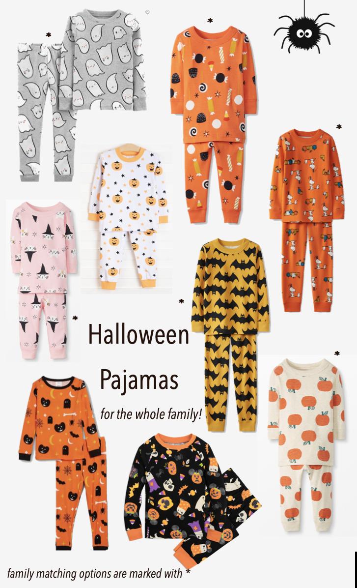 halloween pajamas family matching, sibling pajamas