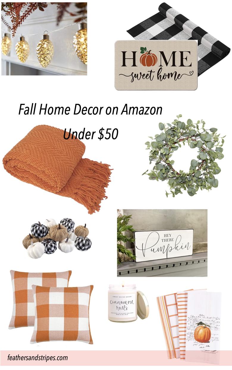 fall home decor on Amazon